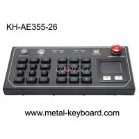 Quality Resistant Ruggedized Desktop Keyboard with Plastic buttons and metal panel wholesale