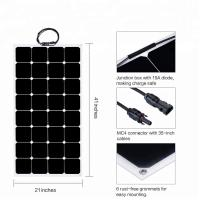 Quality 32 Cells ETFE Thin Film Flexible Solar Panel 12V/18V Sunpower 100W 110W  6.11A wholesale