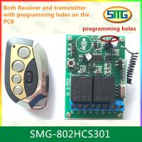 Cheap SMG-802HCS301 12V 2ch remote controller with programming pads for sale
