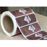 Quality High Strength Round Chrome BOPP Labels Waterproof Custom Size / Logo wholesale