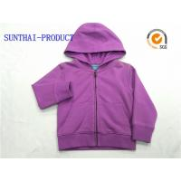 Quality Purple Kids Hooded Jacket Long Sleeve Baby Boy Hooded Jacket With Separated Cuff wholesale