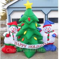 Quality 2015 Hot Sale Inflatable Christmas Tree Snowman Decorations for Christmas Holiday wholesale