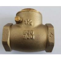 Quality Water Supply Drainage System Forged Steel Valves , Brass Check Valve wholesale