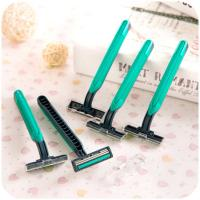 Quality Disposable Razors Men Hotel Two-layer Blade Manual Shavers Stainless Steel Blade Shaver wholesale