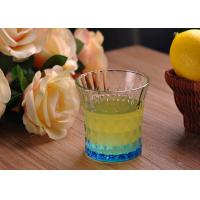 Cheap Colored Embossed Whiskey Glass Cups , Recycled Glasses Tumblers for Water for sale