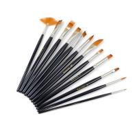 Quality 12pcs Nylon Hair Paint Brush Set Artist Watercolor Acrylic Oil Painting Supplies wholesale