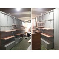Quality Lady Retail Clothing Store Shelves With Wooden Stainless Steel Material wholesale