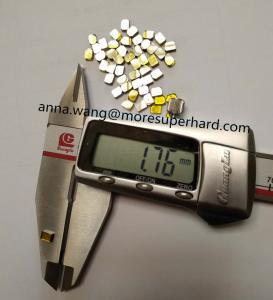 Cheap industry use single crystal synthetic diamond / HPHT Monocrystal diamond 4x3x1.7 for sale