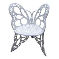 Quality Single Butterfly Wrought Iron Chairs And Circle Table OEM Weather Resistant wholesale