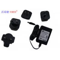 Cheap 18V 500mA Interchangeable Power Supply PC ABS Material Short Circuit Protection for sale