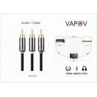 Quality 1000mm Stereo Channel Audio Cable / 3 RCA Cable For Computer CD TV wholesale