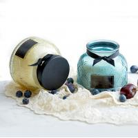 Quality Lace Pattern Glass Soy Candle Jar Natural Soy Wax Candles wholesale