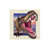 Cheap Dinosaur Image 0.6mm PET 3d Lenticular Pictures For Decoration 40x40cm for sale