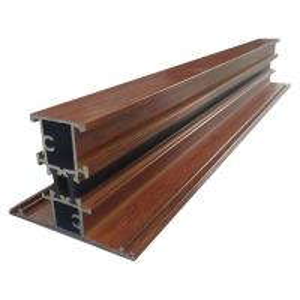 Quality T Shape Broken Bridge Wood Finish Aluminium Profiles For Glass Window and Door 6000 Series Aluminum Extrusion wholesale