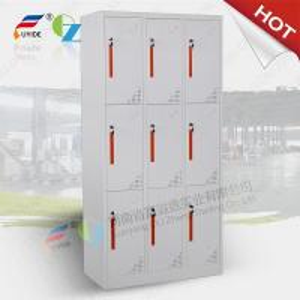 Quality Fashionable 6 door storage steel locker/staff metal locker,CNC laser cutting machine make wholesale