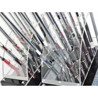 Quality 12 clubs 2 row acrylic clear golf club display stand wholesale