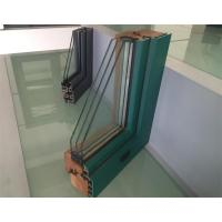 Quality Extruded Aluminium Window Profiles / Green Color Three Layers Glass Combined Windows wholesale