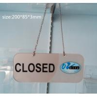 Quality Transparent Acrylic Photo Frames Non-toxicity with a metal chain wholesale