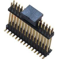 Quality WCON SMT Dual Row Male Pin Header Connector 1.27mm Pitch Black wholesale