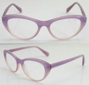 Cheap Lightweight Acetate Optical Frame, Cool Purple Acetate Women Glasses Frames for sale