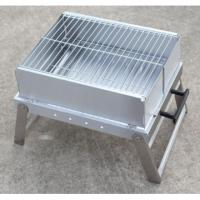 China Pass LFGB test Stainless steel charcoal portable folding barbecue grill on sale