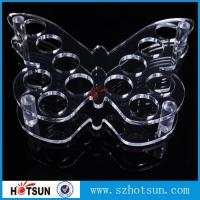 Quality Acrylic Wine Glass Tray Holder/ acrylic shot glass tray,acrylic shot glass holder tray wholesale