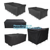 PATIO WEATHER PROTECTION 8 SEATER RECTANGULAR FURNITURE SET COVERS,HEAVY DUTY