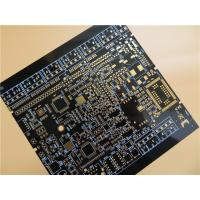 China Black PCB Built On FR-4 With Immersion Gold and 6 Layer Copper on sale