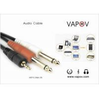 Quality CD, DVD, MP4, Computer, Mobile Phone Audio Cable , 3.5mm Aux TO Dual 6.35MM Cable wholesale