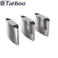 Quality Half Height Safety Access Control Turnstile Gate , Flap Barrier Gate Stainless Steel wholesale