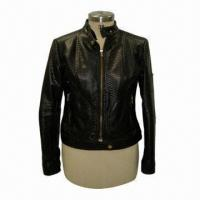 China Women's Pu/Leather Jacket, Available in Black on sale
