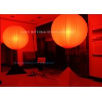 China DMX Colored Inflatable Lighting Decoration Glow Balloons In Red Pink Yellow Orange 16 Colors on sale