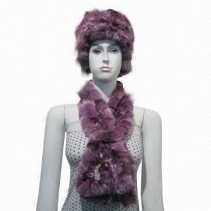 China 100% rabbit fur scarf on sale