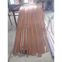 China Customizable Flat Copper Bar / copper bus bars for earthing system on sale