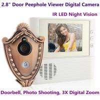 "Quality 2.8"" LCD Screen Digital Door Peephole Viewer Camera IR LED Night Vision Home Security Door Eye Electronic Doorbell Alarm wholesale"