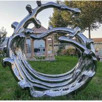 Quality Mirror Surface Modern Outdoor Metal Sculpture Stainless Steel For Public Decoration wholesale