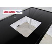 Quality Black Color Clear Epoxy Resin Countertops One Hole 1500*700 Mm Size wholesale