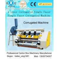 Quality 2 Layer Single Facer Corrugated Paper Carton Making Machine Simple Structure wholesale
