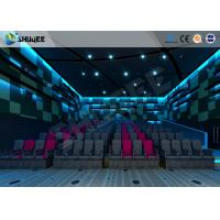 Quality Electric Pneumatic System 3D 4D Movie Theater Special Effect Black Motion Chairs wholesale