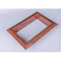 Quality Extruded PVC Plastic Profile Wooden Effect Designed For Decoration wholesale