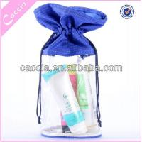 China Transparent pvc pouch for cosmetic packaging on sale