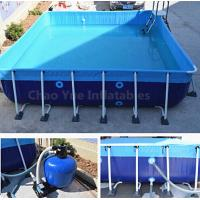 Quality Outdoor Metal Frame Swimming Above Ground Pool with filter wholesale