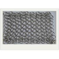 Quality 6*8 Stainless Steel Chainmail Scrubber / Cast Iron Chain Cleaner Non - Toxic wholesale