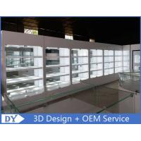 Quality Fashion High Wooden Shelf Jewelers Showcase With Lights For Showroom Display wholesale