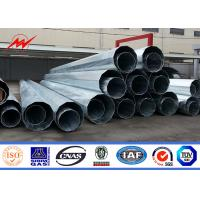 China 16 M Electrical Steel Tubular Pole With Cross Arm For Transmission Line on sale