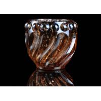 Quality Spiral Shaped decorative Glass Candle Holder , Color Sprayed Mercury Electroplated wholesale