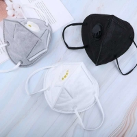 Quality 5 Layers Non Woven Disposable Kn95 Mask With Valve CE 2163 wholesale