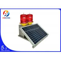 Quality AH-MS/D Solar powered LED double/twin aviation obstruction light/aircraft warning light wholesale