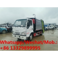 China Factory sale good price Isuzu brand diesel 8cbm garbage compacted truck for sale, HOT SALE! compacted garbage truck on sale
