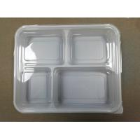 Quality 4-compartments Plastic Food Container with Lid Healthy Food Storage Disposable Plastic Bento Insulated Lunch Box wholesale